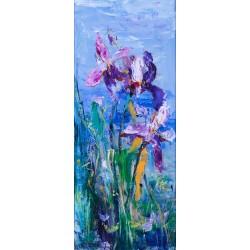 Iriși - pictură în ulei pe carton pânzat, artist Iurie Cojocaru
