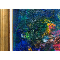 Cântecul viei - pictură în ulei pe pânză, artist Iurie Cojocaru