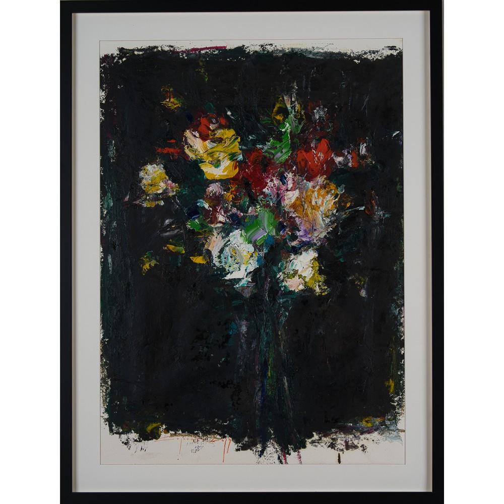 Parfum nocturn - pictură în ulei pe carton, artist Iurie Cojocaru