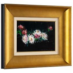 Trandafiri - pictură în ulei pe carton, artist Iurie Cojocaru