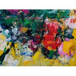 Amintiri - pictură în ulei pe carton, artist Iurie Cojocaru