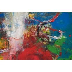 Umbra călărețului milostiv IV - pictură în ulei pe pânză, artist Iurie Cojocaru