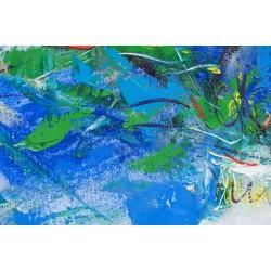 Lumina din vază - pictură în ulei pe pânză, artist Iurie Cojocaru