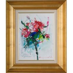Prima impresie - pictură în ulei pe carton, artist Iurie Cojocaru