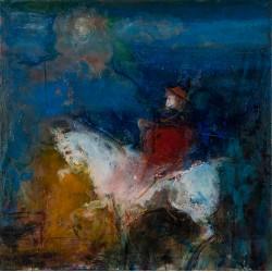 Umbra călărețului milostiv  V - pictură în ulei pe pânză, artist Iurie Cojocaru