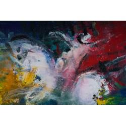 Umbra călărețului milostiv - pictură în ulei pe pânză, artist Iurie Cojocaru