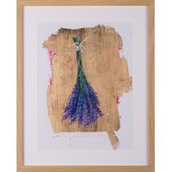 Parfum - grafică pe hârtie, foiță aur, artist Iurie Cojocaru