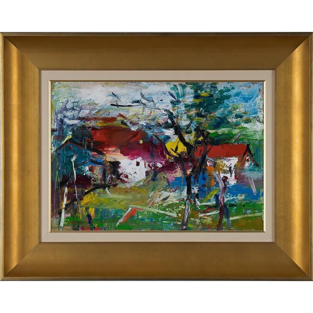 Dor de casă II - pictură în ulei pe carton, artist Iurie Cojocaru