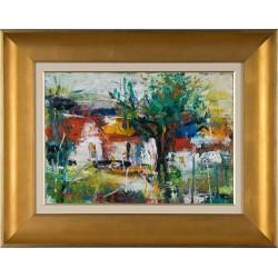 Dor de casă I - pictură în ulei pe carton, artist Iurie Cojocaru