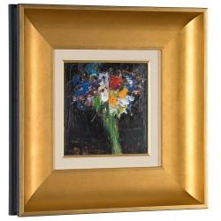 Parfum subtil II - pictură în ulei pe carton, artist Iurie Cojocaru