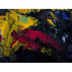 Armonii în galben - pictură în ulei pe pânză, artist Iurie Cojocaru