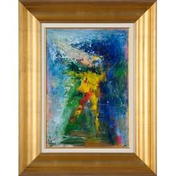 Prezență binefăcătoare II - pictură în ulei pe carton, artist Iurie Cojocaru