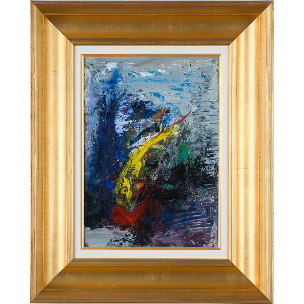 Ivirea- pictură în ulei pe carton, artist Iurie Cojocaru
