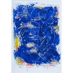 Stră - linii cerești II - pictură în ulei pe carton, artist Iurie Cojocaru