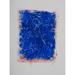 Stră - linii cerești III - pictură în ulei pe carton, artist Iurie Cojocaru