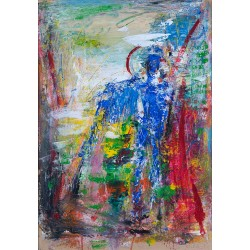 Străjerul dreptății - pictură în ulei pe carton, artist Iurie Cojocaru