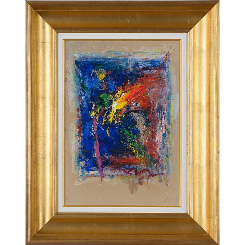 Prietenul imaginar- pictură în ulei pe carton, artist Iurie Cojocaru