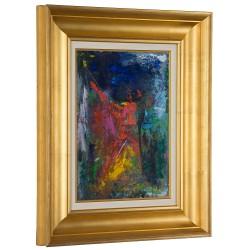 Prezență binefăcătoare - pictură în ulei pe carton, artist Iurie Cojocaru