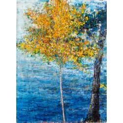 Ascensiuni III - pictură în ulei pe hîrtie, artist Iurie Cojocaru