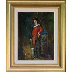 Claunul ȋn așteptare - pictură în ulei pe pânză, artist Iurie Cojocaru