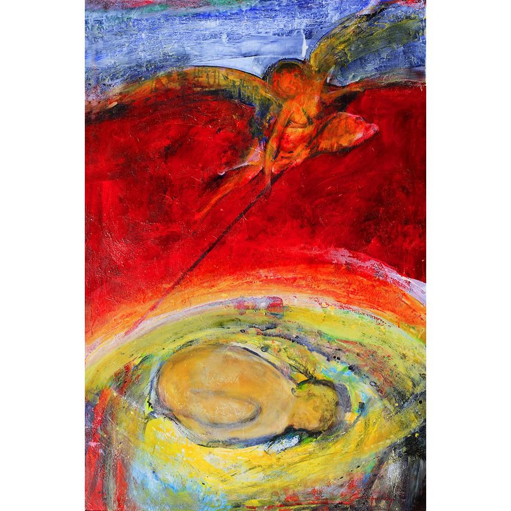 Taina - pictură în ulei pe pânză, artist Iurie Cojocaru