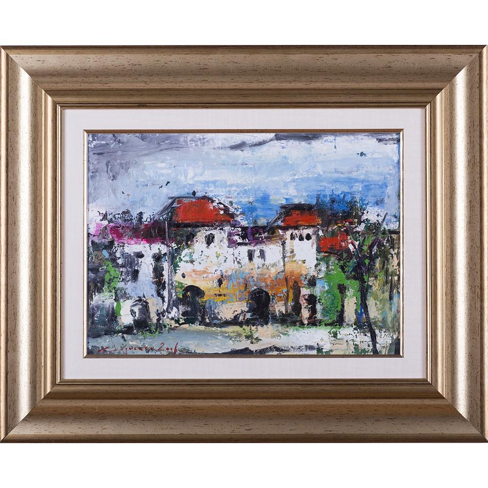 Cetate- pictură în ulei pe carton, artist Iurie Cojocaru