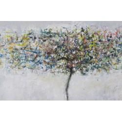 Prapor - pictură în ulei pe pânză, artist Iurie Cojocaru