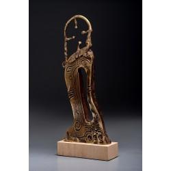 Porțile Cerului I - sculptură în bronz, artist Liviu Bumbu