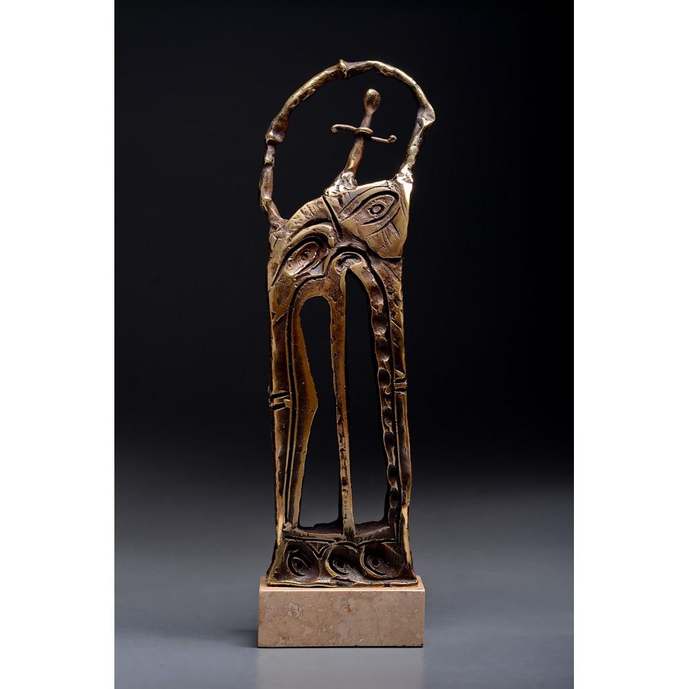 Porțile Cerului IV - sculptură în bronz, artist Liviu Bumbu