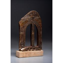 Porțile Cerului VII - sculptură în bronz, artist Liviu Bumbu