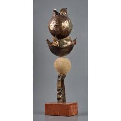 Cometa - sculptură în bronz, artist Liviu Bumbu