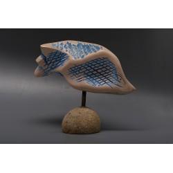Pește III - sculptură în piatră, artist Liviu Bumbu