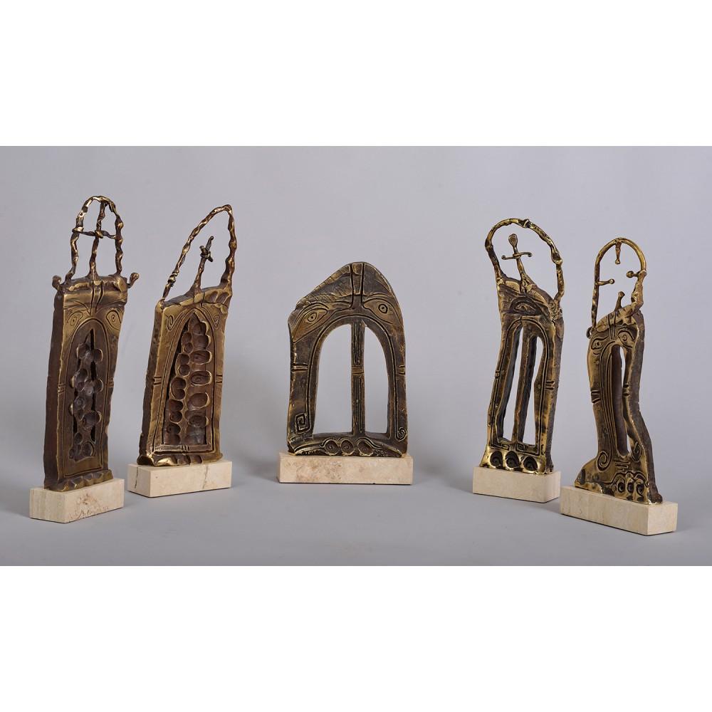 Grup statuar 5 - sculpturi în bronz, artist Liviu Bumbu
