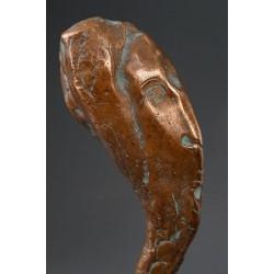 Visătorul - sculptură în bronz, artist Liviu Bumbu