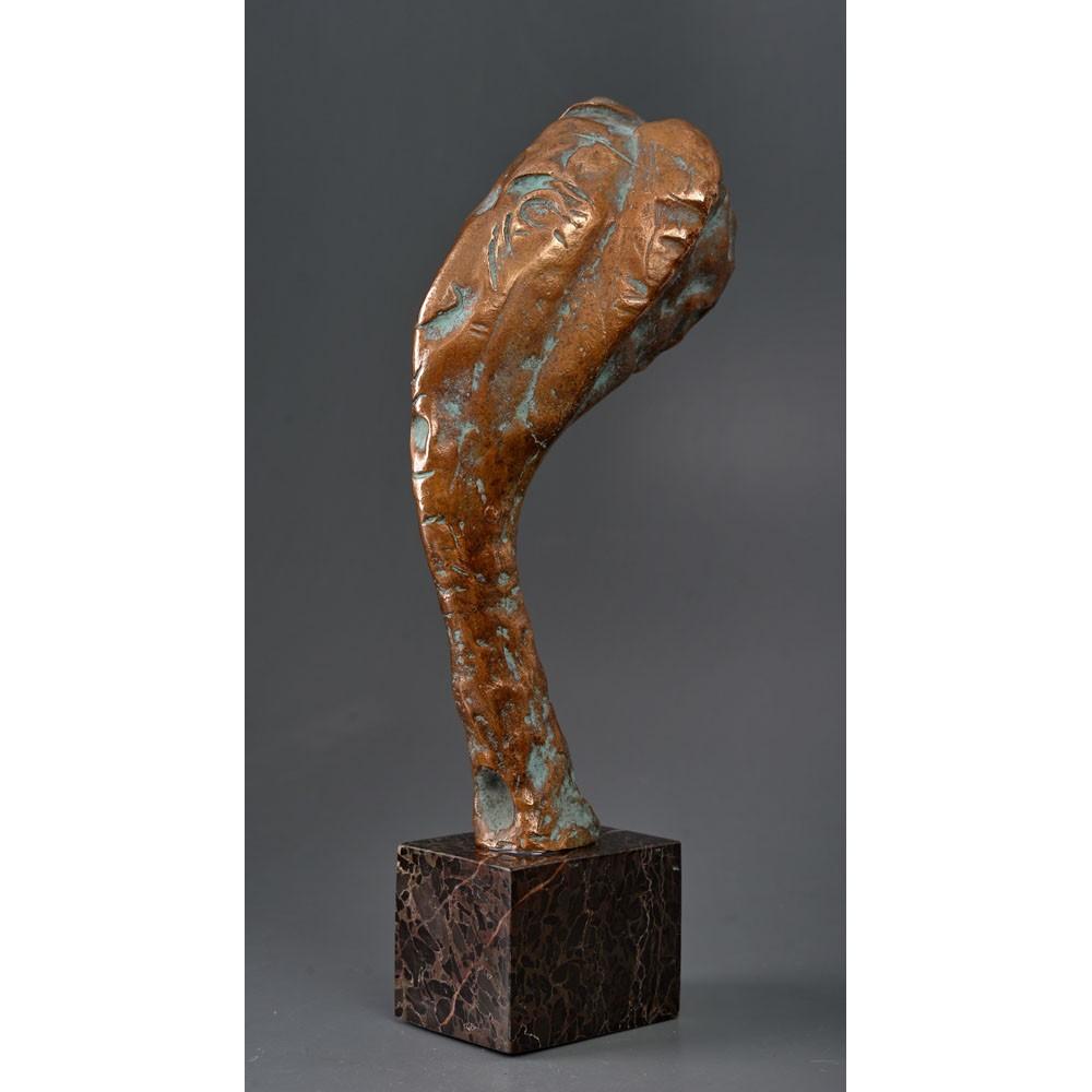 Luna - sculptură în bronz, artist Liviu Bumbu