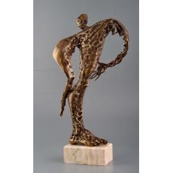 Lupta - sculptură în bronz, artist Liviu Bumbu