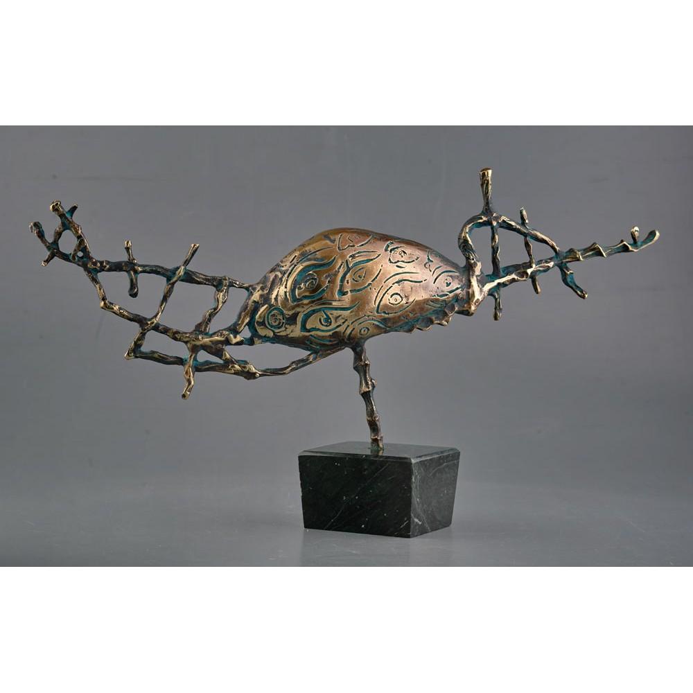 Naufragiu - sculptură în bronz, artist Liviu Bumbu