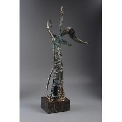 Înger III - sculptură în bronz, artist Liviu Bumbu