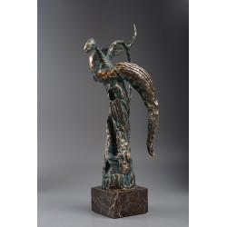 Înger II - sculptură în bronz, artist Liviu Bumbu