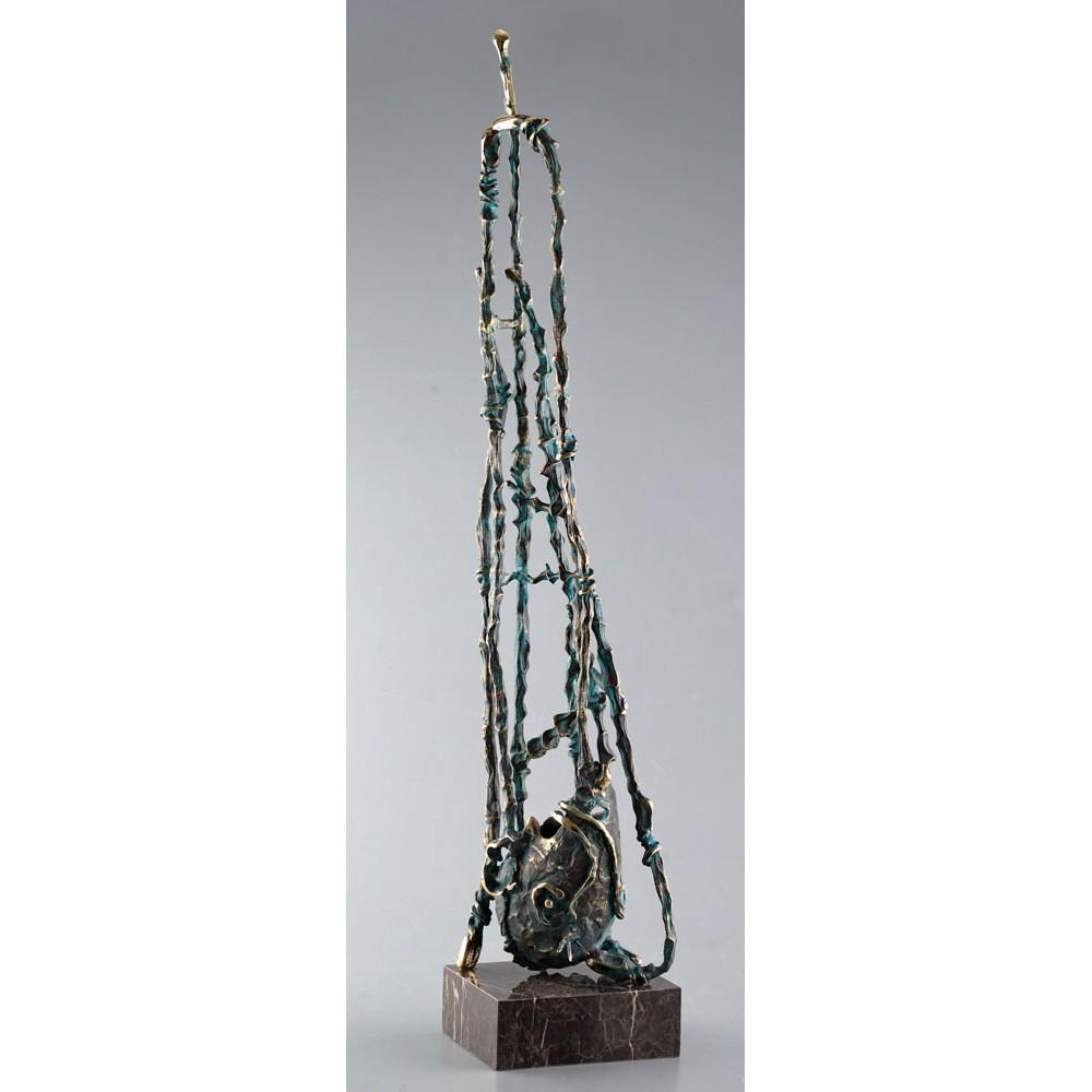 Oglindire - sculptură în bronz, artist Liviu Bumbu