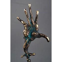 Privire - sculptură în bronz, artist Liviu Bumbu