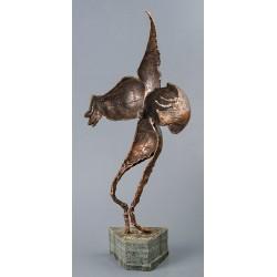 Rugăciune - sculptură în bronz, artist Liviu Bumbu