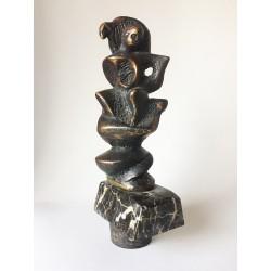 Bunul Pastor - sculptură în bronz, artist Liviu Mocan
