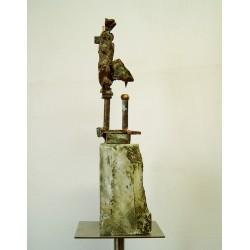 Stâlpnic - sculptură în bronz, artist Liviu Mocan