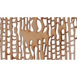 Izvor - lemn gravat și traforat cu laser