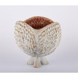 Coș - ceramică în lut ars, artist Petru Leahu