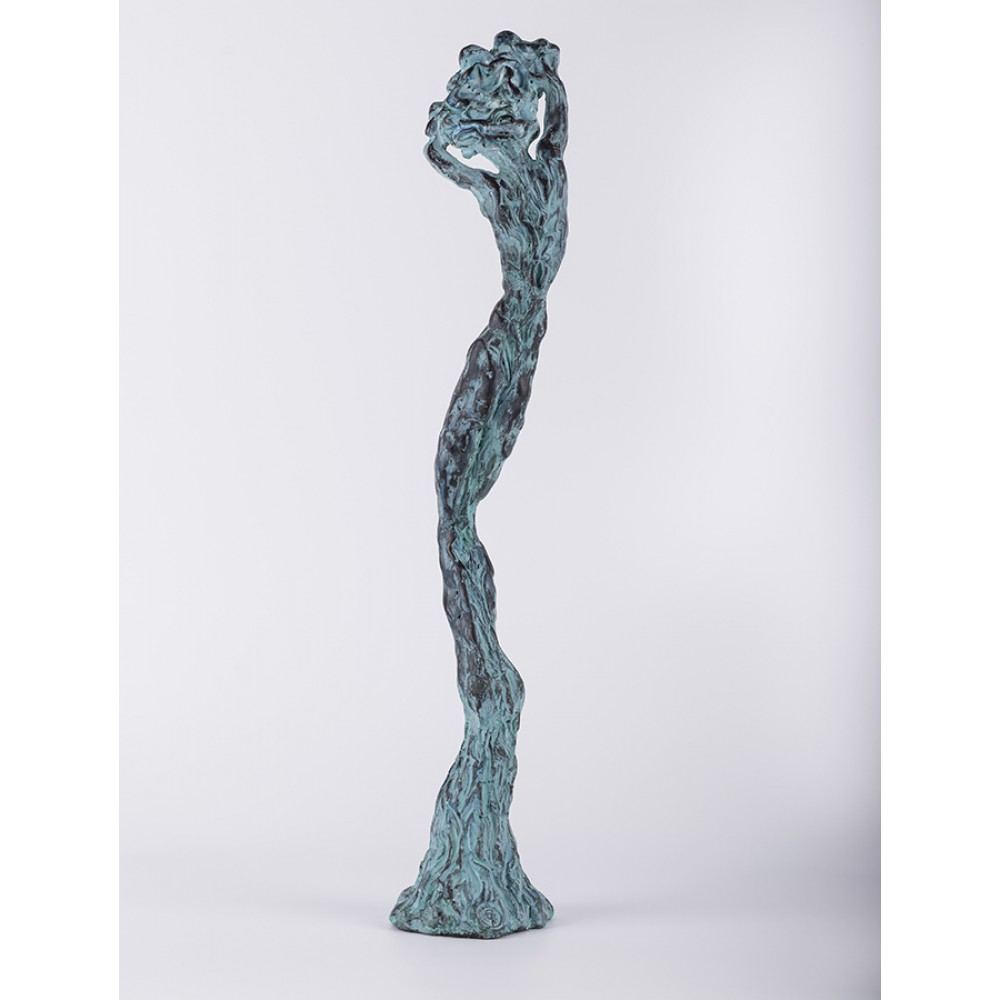 Unduire vie II - sculptură în lut ars, artist Petru Leahu