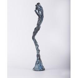 Curgere - sculptură în lut ars, artist Petru Leahu