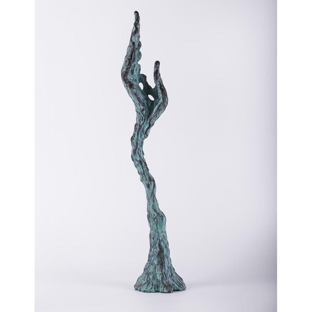 Mâna strugure - sculptură în lut ars, artist Petru Leahu