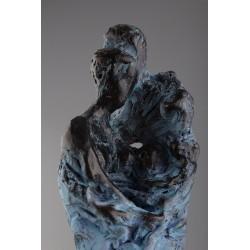 Familie - ceramică  patinată, artist Petru Leahu